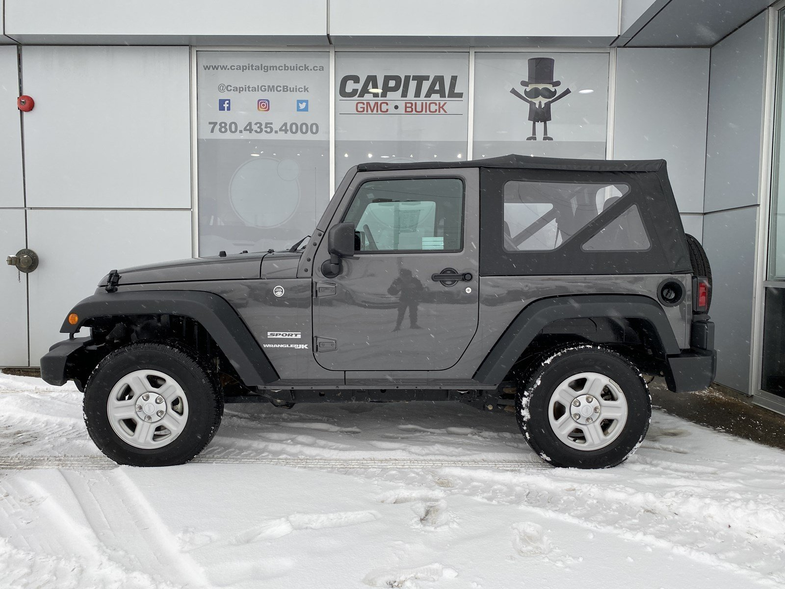 Certified Pre-Owned 2018 Jeep Wrangler JK Sport 4WD LOCAL ONE OWNER TRADE