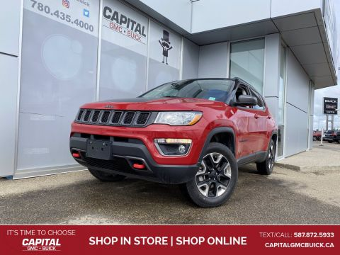 2017 Jeep Compass Trailhawk 4WD PANORAMIC SUNROOF NAV LEATHER HTD STEERING